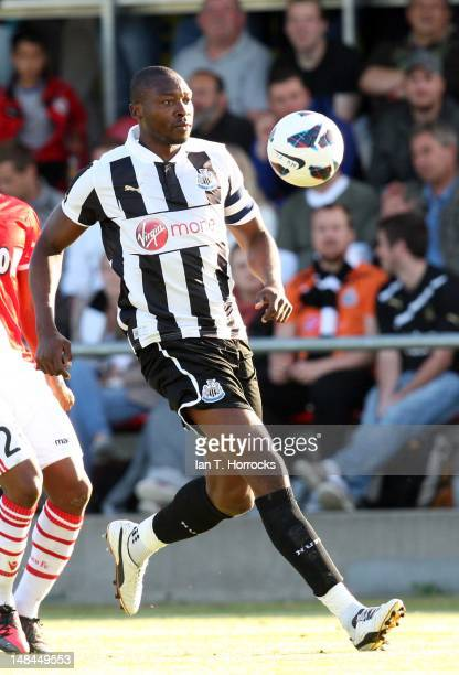 Shola Ameobi of Newcastle United during a pre season friendly match between Newcastle United and AS Monaco at the HackerPschorr Sports Park on July...
