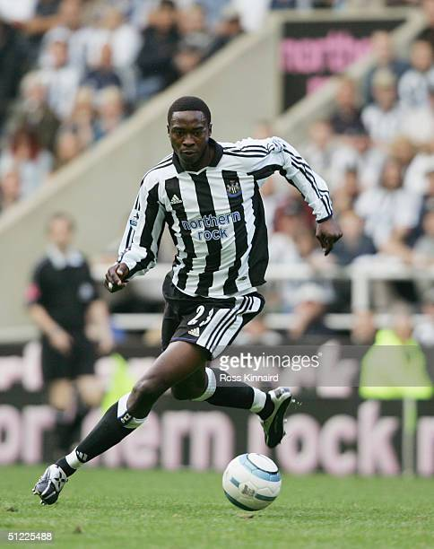 Shola Ameobi of Newcastle United in action during the Barclays Premiership match between Newcastle United and Tottenhan Hotspur at St. James' Park,...