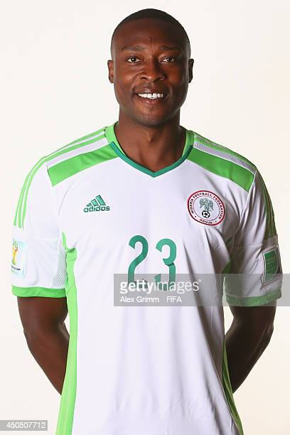 Shola Ameobi of Nigeria poses during the official FIFA World Cup 2014 portrait session on June 12, 2014 in Campinas, Brazil.