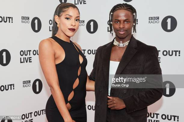 Shola and Josh of I Like the Way You Move attend BBC Radio 1 Out Out! Live 2021 at Wembley Arena on October 16, 2021 in London, England.