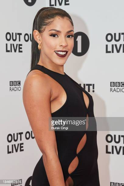 Shola attends BBC Radio 1 Out Out! Live 2021 at Wembley Arena on October 16, 2021 in London, England.