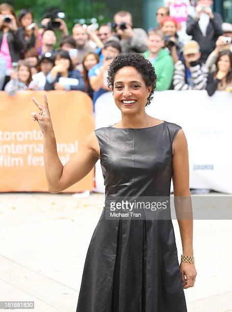 Shola Lynch arrives at Free Angela All Political Prisoners premiere during the 2012 Toronto International Film Festival held at Roy Thomson Hall on...