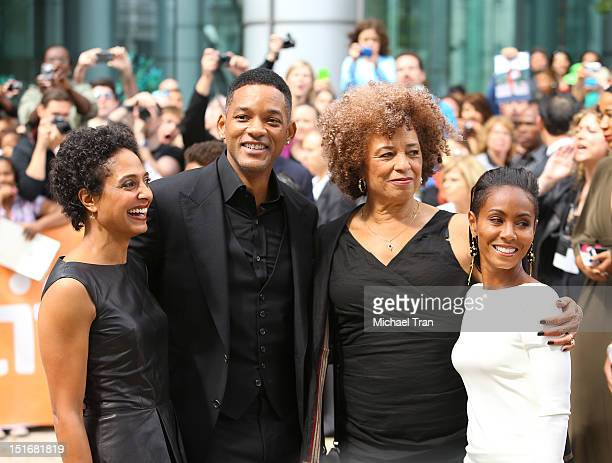 Shola Lynch Will Smith Angela Davis and Jada Pinkett Smith arrive at Free Angela All Political Prisoners premiere during the 2012 Toronto...