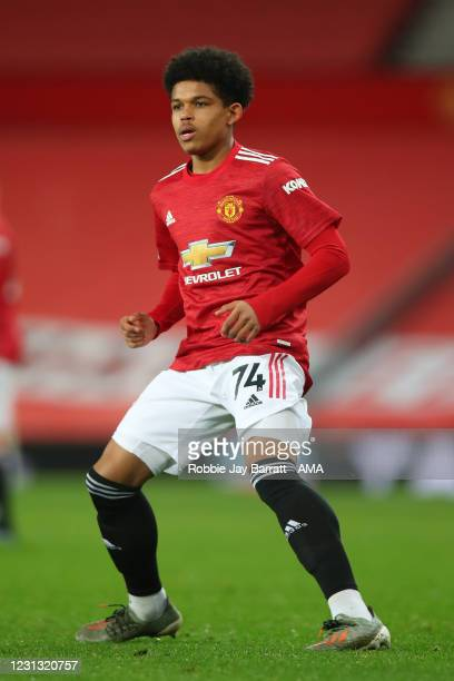 Shola Shoretire of Manchester United during the Premier League match between Manchester United and Newcastle United at Old Trafford on February 21,...