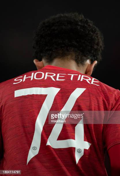 Shola Shoretire of Manchester United during the UEFA Europa League Round of 32 match between Manchester United and Real Sociedad at on February 25,...