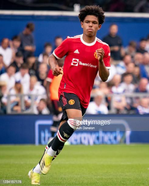 Shola Shoretire of Manchester United in action during the pre-season friendly match between Queens Park Rangers and Manchester United at The Kiyan...