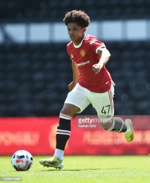 Shola Shoretire of Manchester United runs with the ball during the pre-season friendly match between Derby County and Manchester United at Pride Park...