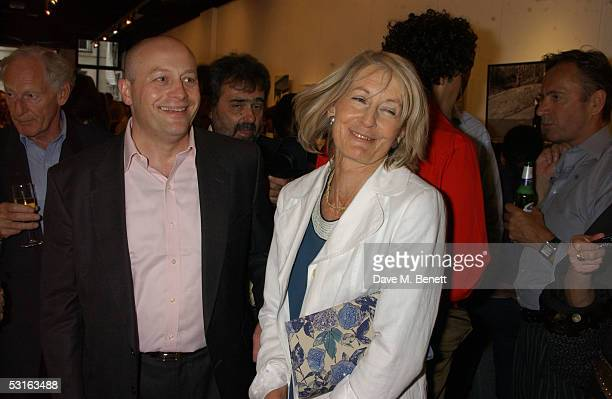 Sholto DouglasHome and Sandra Howard attends The Sixties Set An Inside View By Robin DouglasHome at the Air Gallery June 28 2005 in London England...