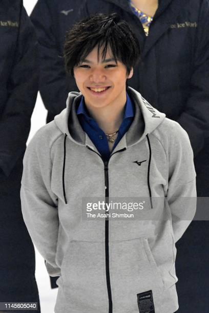 Shoma Uno attends the Prince Ice World 'Brand New Story' at Kose Shin Yokohama Skate Center on April 27 2019 in Yokohama Kanagawa Japan