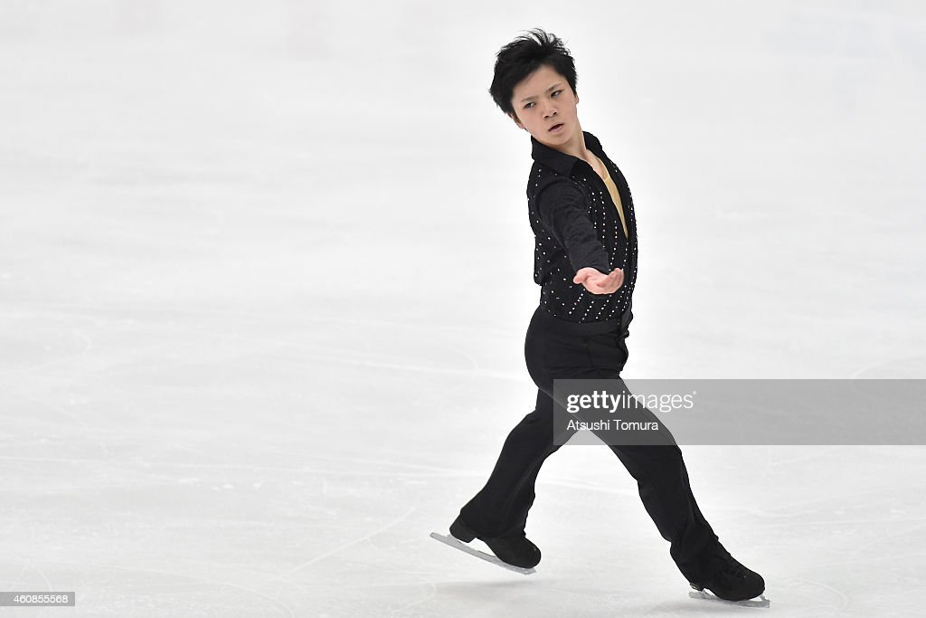 Shoma Uno of Japan competes in the Men's Free Skating during the 83rd All Japan Figure Skating Championships at the Big Hat on December 27, 2014 in Nagano, Japan.