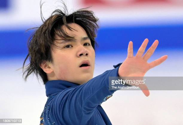 Shoma Uno of Japan competes in the Men's Single Free Skating on day four of the ISU World Figure Skating Championships at Ericsson Globe on March 27,...