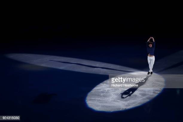 Shoma Uno of Japan performs during the Figure Skating Gala Exhibition on day 16 of the PyeongChang 2018 Winter Olympics at Gangneung Ice Arena on...