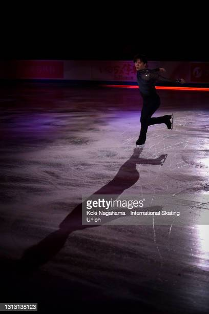 Shoma Uno of Japan performs during the gala exhibition of ISU World Team Trophy at Maruzen Intec Arena Osaka on April 18, 2021 in Osaka, Japan.
