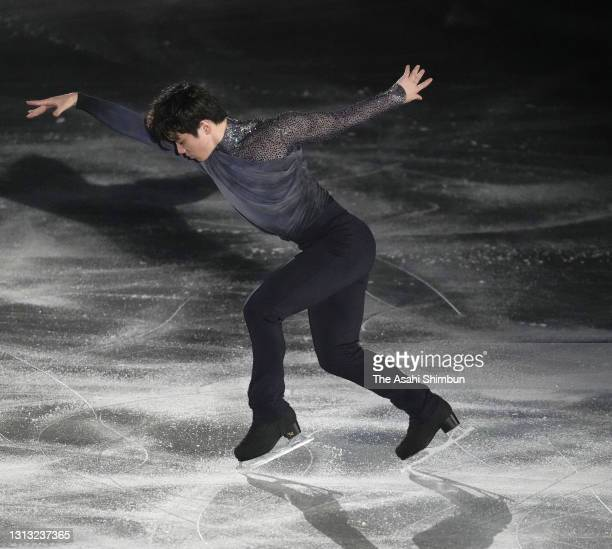 Shoma Uno of Japan performs during the gala exhibition of the ISU World Team Trophy at Maruzen Intec Arena Osaka on April 18, 2021 in Osaka, Japan.