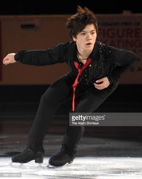 Shoma Uno of Japan performs during the ISU Grand Prix of Figure Skating Skate Canada International exhibition program at Place Bell on October 28...