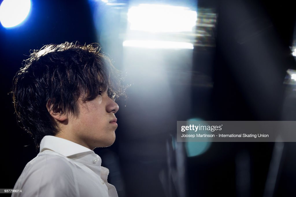 Shoma Uno of Japan performs in the Gala Exhibition during day five of the World Figure Skating Championships at Mediolanum Forum on March 25, 2018 in Milan, Italy.