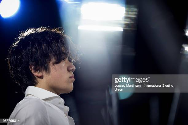 Shoma Uno of Japan performs in the Gala Exhibition during day five of the World Figure Skating Championships at Mediolanum Forum on March 25 2018 in...