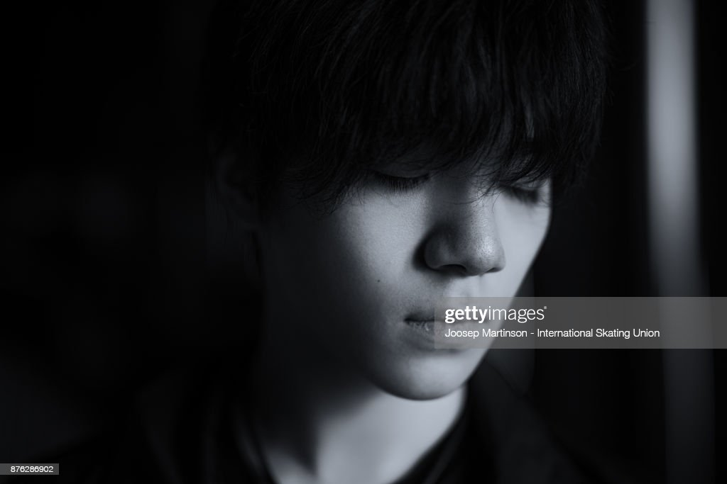 Shoma Uno of Japan poses for a portrait during day three of the ISU Grand Prix of Figure Skating at Polesud Ice Skating Rink on November 19, 2017 in Grenoble, France.