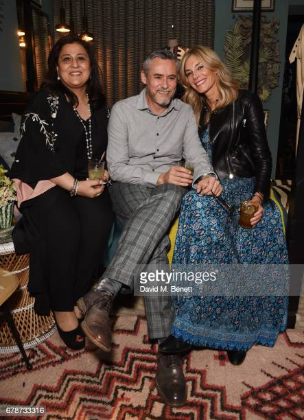 Shon Randhawa Hurbert Zandberg and Kim Hersov attend an intimate cocktail party hosted by Talitha's Kim Hersov and Shon Randhawa to celebrate the...