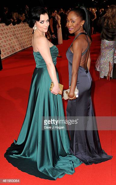 Shona McGarty and Diane Parish attend the National Television Awards at 02 Arena on January 21 2015 in London England