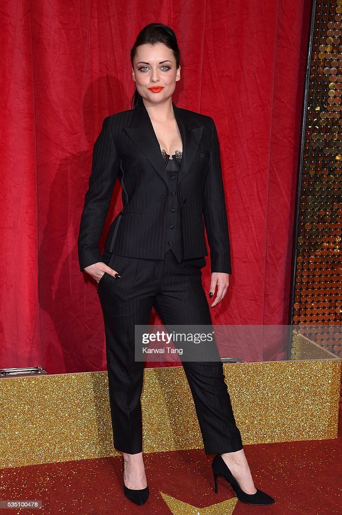 Shona McGarty arrives for the British Soap Awards 2016 at the Hackney Town Hall Assembly Rooms on May 28, 2016 in London, England.