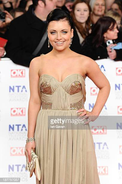 Shona McGarty attends the National Television Awards 2012 at the 02 Arena on January 25 2012 in London England