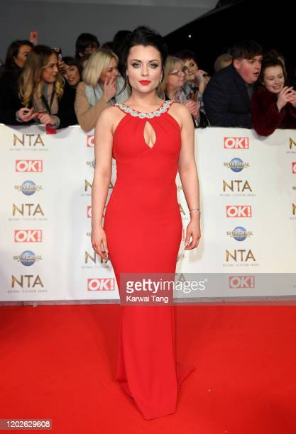 Shona McGarty attends the National Television Awards 2020 at The O2 Arena on January 28, 2020 in London, England.