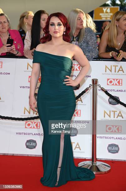 Shona McGarty attends the National Television Awards 2021 at The O2 Arena on September 09, 2021 in London, England.