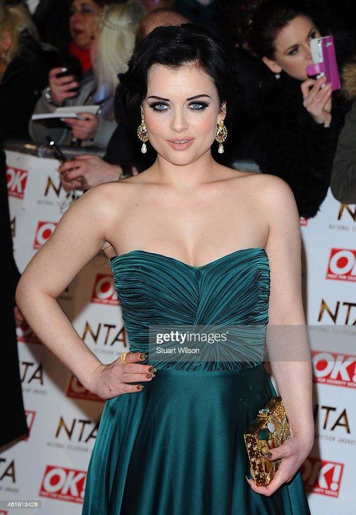 Shona McGarty attends the National Television Awards at 02 Arena on January 21, 2015 in London, England.