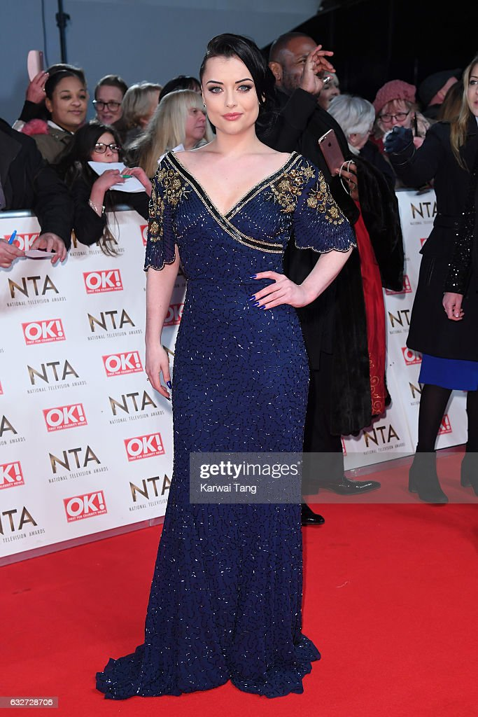 Shona McGarty attends the National Television Awards at The O2 Arena on January 25, 2017 in London, England.