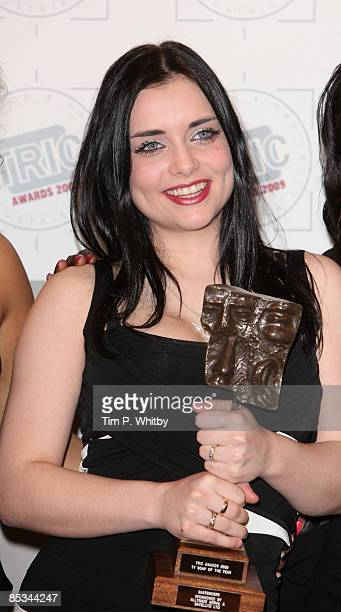 Shona McGarty in the press room at the TRIC Awards at the Grosvenor House Hotel on March 10 2009 in London England