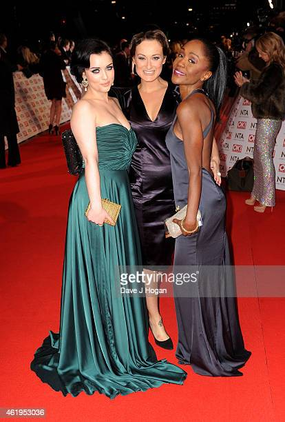 Shona McGarty Luisa BradshawWhite and Diane Parish attend the National Television Awards at 02 Arena on January 21 2015 in London England