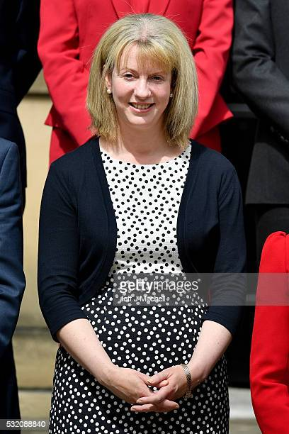 Shona Robison Health Secretary stands on the steps of Bute House following the the First Minister announcing her new cabinet on May 18 2016 in...