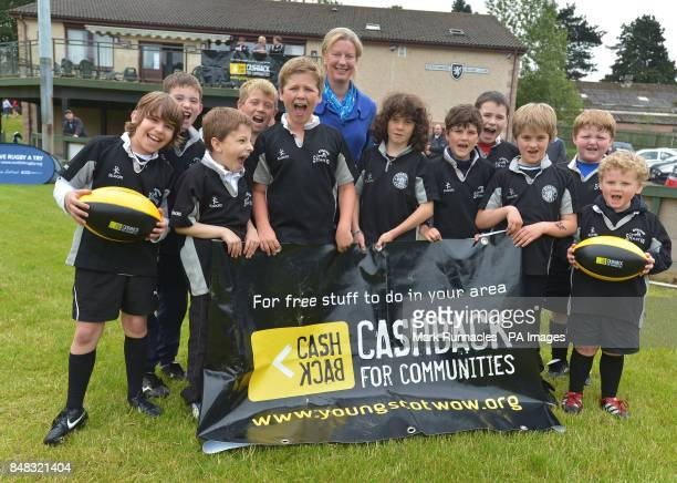Shona Robison MSP during a photocall at the Strathmore Rugby Club Forfar
