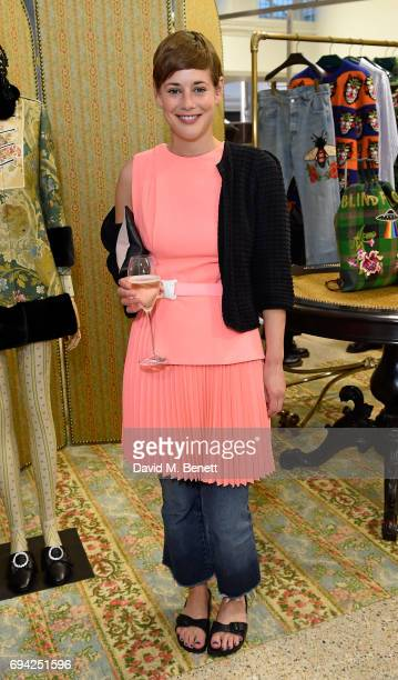 Shonagh Marshall attends a cocktail event for the launch of a special Gucci PreFall capsule exclusive to Dover Street Market on June 9 2017 in London...