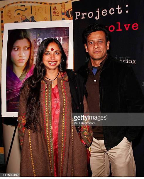 Shonali Bose and Bedabrata Pain during Film Independent's Project Involve Presents 'Amu' at Vista Theater in Los Angeles California United States