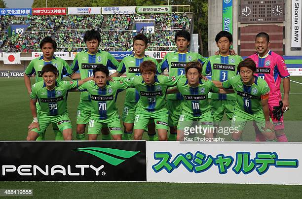Shonan Bellmare players line up for the team photos prior to the JLeague second division match between Shonan Bellmare and Tochigi SC at BMW Stadium...