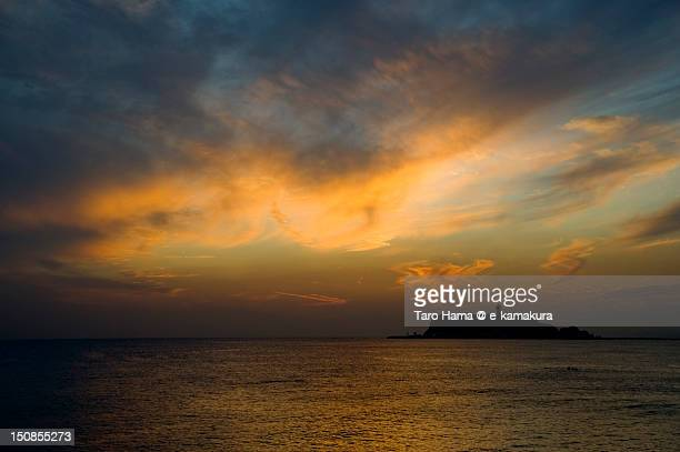 Shonan sunset and enoshima island