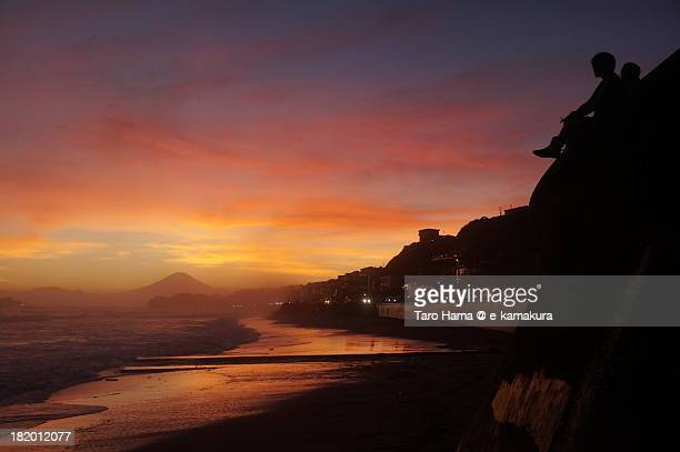 Shonan Sunset and Mt.Fuji