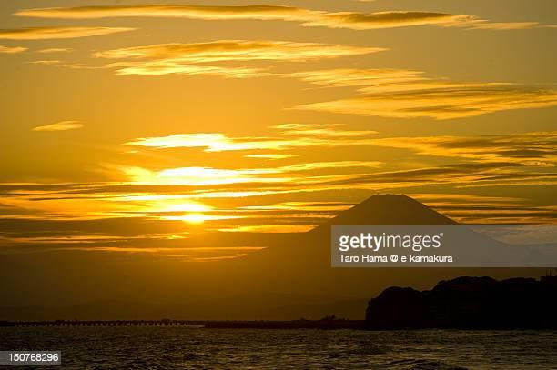 Shonan Sunset Mt.Fuji