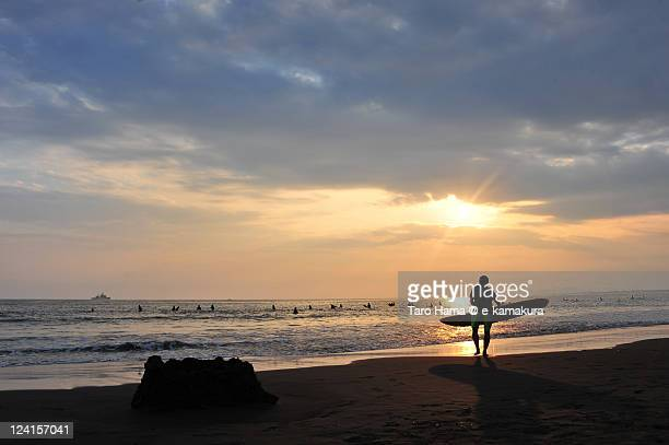 Shonan sunset surfer