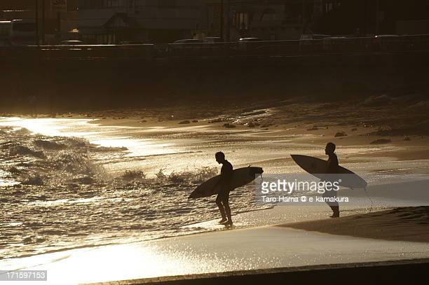Shonan Surfers on Golden Beach