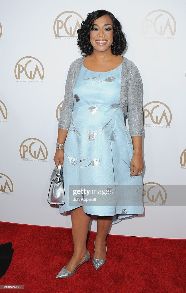 Shonda Rhimes arrives at the 27th Annual Producers Guild Awards at the Hyatt Regency Century Plaza on January 23, 2016 in Century City, California.