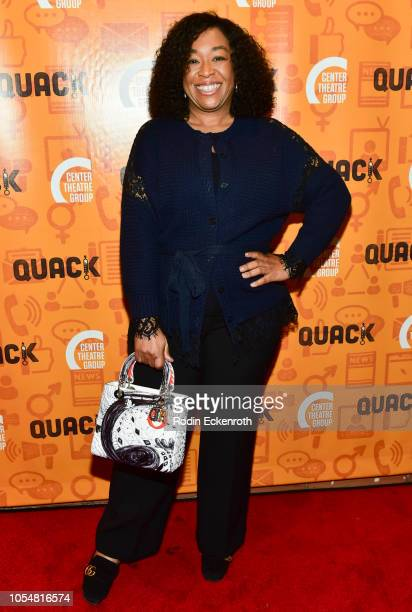 Shonda Rhimes attends Center Theatre Group's Kirk Douglas Theatre Hosts Opening Night Performance of Quack at Kirk Douglas Theatre on October 28 2018...