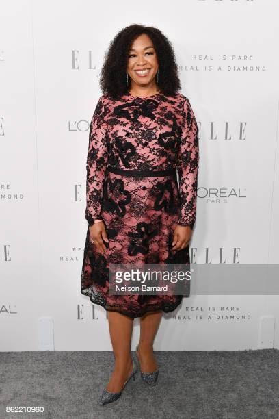 Shonda Rhimes attends ELLE's 24th Annual Women in Hollywood Celebration presented by L'Oreal Paris Real Is Rare Real Is A Diamond and CALVIN KLEIN at...