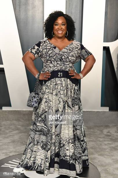 Shonda Rhimes attends the 2020 Vanity Fair Oscar Party hosted by Radhika Jones at Wallis Annenberg Center for the Performing Arts on February 09,...