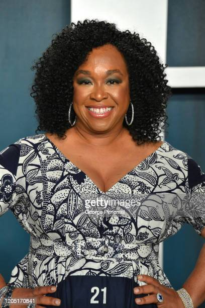 Shonda Rhimes attends the 2020 Vanity Fair Oscar party hosted by Radhika Jones at Wallis Annenberg Center for the Performing Arts on February 09 2020...