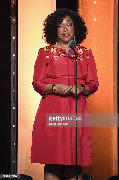 Shonda Rhimes speaks onstage at The 75th Annual Peabody Awards Ceremony at Cipriani Wall Street on May 21 2016 in New York City