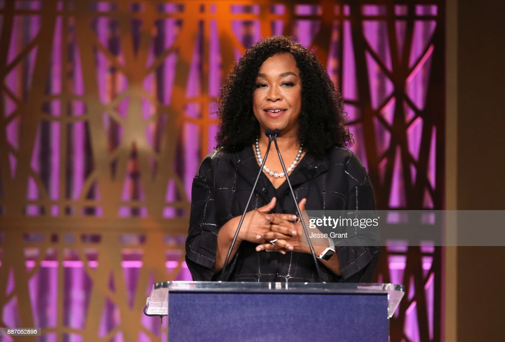 Shonda Rhimes speaks onstage at The Hollywood Reporter's 2017 Women In Entertainment Breakfast at Milk Studios on December 6, 2017 in Los Angeles, California.