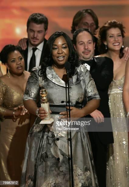 "Shonda Rhimes, writer and creator of ""Grey's Anatomy,"" winner Best Television Series, Drama"